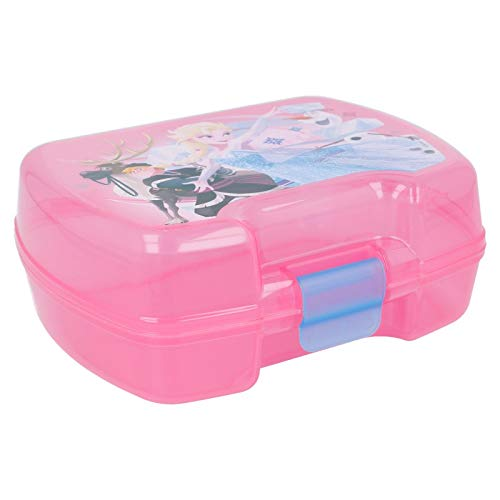 ALMACENESADAN 2000 Sandwichera Premium Rectangular Disney Frozen Producto de pl/ástico; Libre BPA; Dimensiones 18x14x7 cm