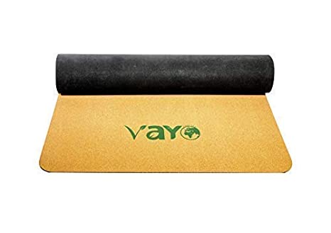 VaYo Concept Cork & Natural Rubber Yoga MAT | Non Slip Exercise and Pilates Mat | Ideal for Hot Yoga, Power, Bikram, Ashtanga | Yogis Choice