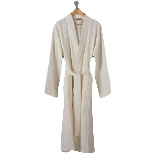 Coyuchi Organic Cotton Unisex Waffle Robe XSmall/Small Alpine White