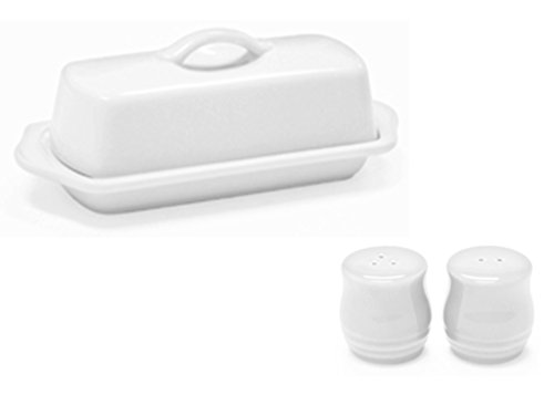 Spring Lb 0.25 (Chantal Set of White Standard Covered Butter Dish and Salt and Pepper Shakers)