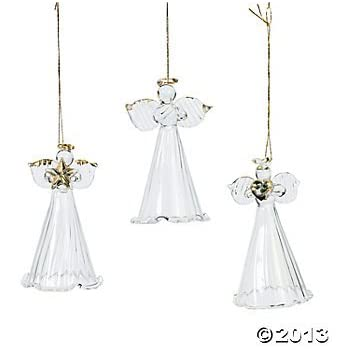 one dozen spun glass angel ornamentschristmas tree ornaments