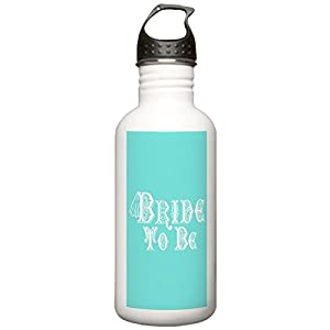 CafePress - Bride To Be With Veil, Fancy White Type Teal Water - Stainless Steel Water Bottle, 1.0L Sports Bottle