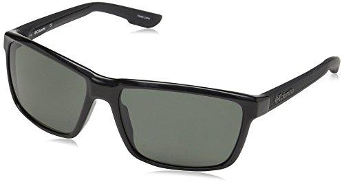 Columbia Men's Zonafied P Polarized Rectangular Sunglasses, Black, 58 - Sunglasses Columbia Polarized