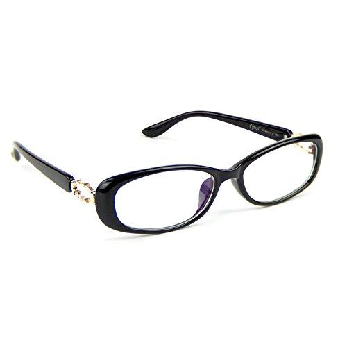 Cyxus Blue Light Filter Computer Glasses, Better Sleep Anti Eyestrain Headache Classic Eyewear Oval Frame (Black) by Cyxus
