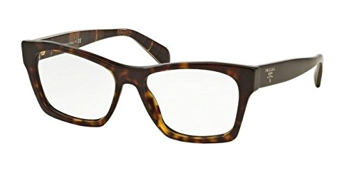 Prada PR22SV Eyeglass Frames 2AU1O1-52 - Havana - Optical Eyewear Prada