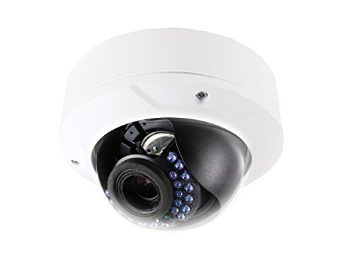 Monoprice 4.1MP HD IP Security PoE Camera 2560x1920P - White Vandal Proof with a 2.8-12mm Varifocal Motorized Lens