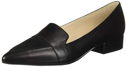 Cole Haan Women's Marlee Skimmer II Ballet Flat, Black Leather/Suede, 11 B US