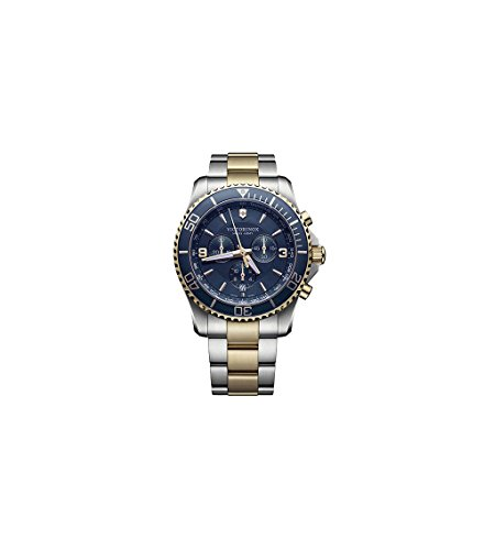 Victorinox Maverick Chronograph Blue Dial Mens Watch - Army Dial Blue Swiss Watch