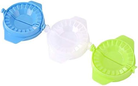 プラスチック金型餃子中華料理餃子マシンの1/3枚パイラビオリ餃子の手型クリエイティブなキッチンツールを押します zhengpingpai (色 : 3pcs(Including 3 colors))