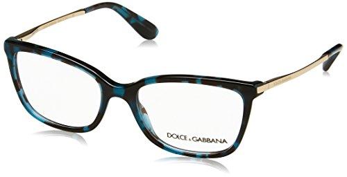 (Dolce&Gabbana DG3243 Eyeglass Frames 2887-52 - Cube Havana Petrolemu DG3243-2887-52)