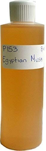 (8 oz, Light Brown Egyptian Musk Body Oil Scented)