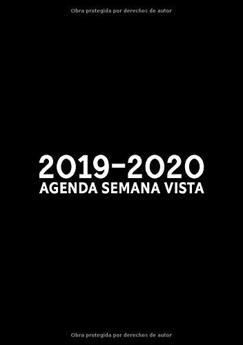 Amazon.com: 2019-2020: Agenda semana vista: Del 1 de julio ...