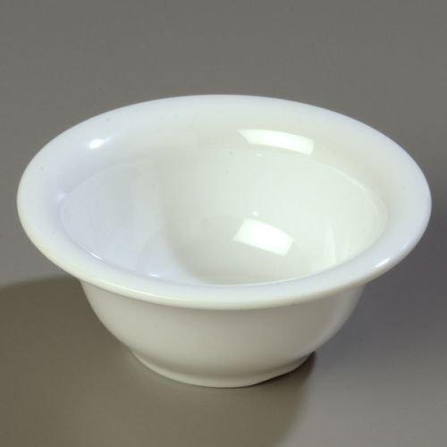 - Carlisle Durus 10 Ounce Rimmed Nappie Bowl, 5 3/8 inch -- 1 each.