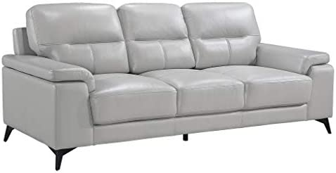 "Homelegance 89"" Leather Sofa"