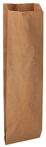 (100 Pack Kraft Brown Paper Wine Bags, 4 1⁄2 x 2 1⁄2 x 16