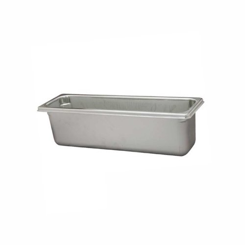 Paderno World Cuisine 12 3/4 inches by 7 1/8 inches Stainless-steel Hotel Pan - 1/3 (depth: 6 inches)