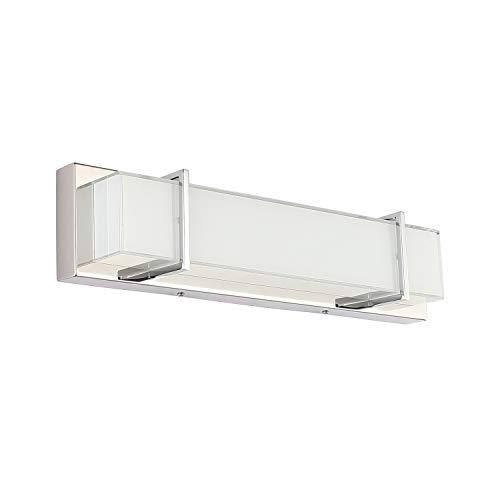 Modern Bathroom Vanity Light Fixtures Dimmable Bathroom Lighting Chrome Over Mirror 18.9