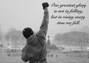 Motivation rocky greatest glory quote a3 poster kitchen home - Rocky wallpaper with quotes ...
