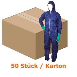 Traje de protección de ampri PP MED comfort colour azul oscuro Gr, batas desechables XXL con capucha, colour azul oscuro 50 pcs/caja de cartón: Amazon.es: ...