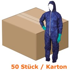 Traje de protección de ampri PP MED comfort colour azul oscuro Gr, batas desechables XXL