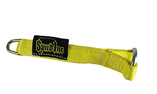 Spud Yellow Strap Loading Pin for Olympic Weight Plates. For Weight Lifting, Crossfit and Powerlifting exercises.