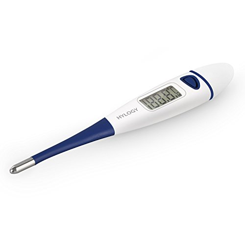 Hylogy Digitaler Thermometer Baby Thermometer Instant Lesen Fieberthermometer schnell präzis für Körpertemperatur Messung im Mund, im After, unter der Achsel mit LCD Anzeige (Blau)
