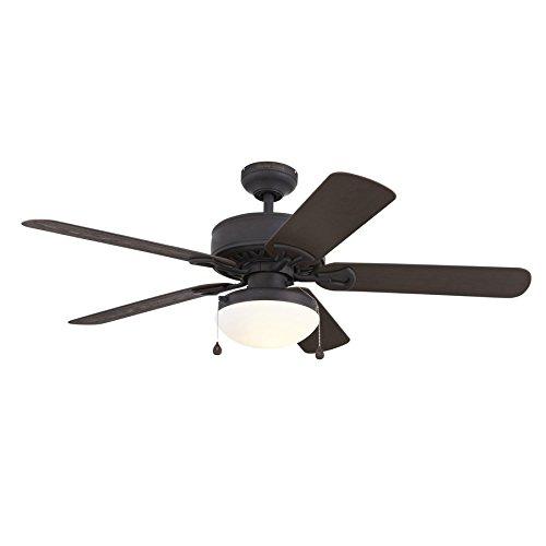 Harbor Breeze Calera 52-in Aged Bronze Downrod Mount Indoor/Outdoor Ceiling Fan ENERGY STAR
