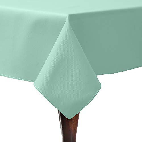 Ultimate Textile Poly-Cotton Twill 54 x 54-Inch Square Tablecloth Seamist Light Green