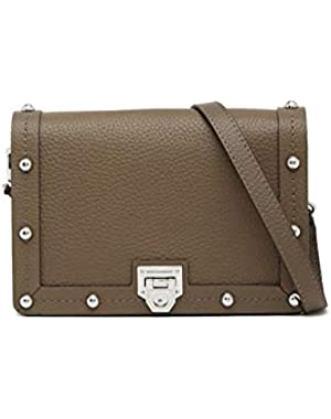 Madison Leather Crossbody Bag - Graphite