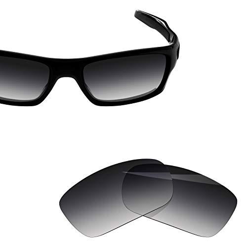 BlazerBuck Anti-salt Polarized Replacement Lenses for Oakley Turbine - Grey Gradient