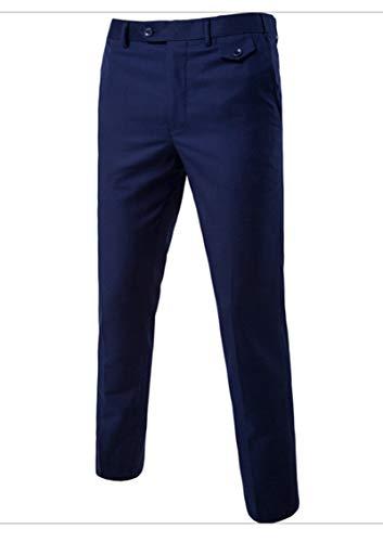 Veste Gilet Fit Slim Dcontraction Pices 3 Costume Marine Hommes Pour Affaires Pantalon Mariage XYXaqn