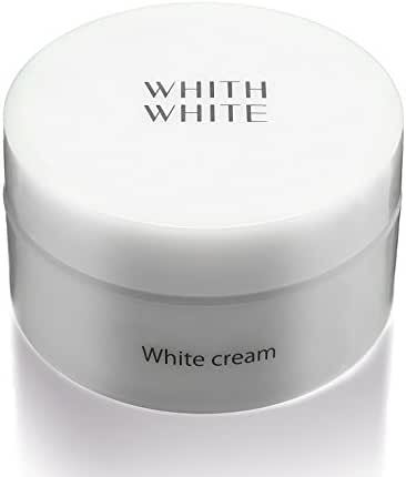 WHITH WHITE Whitening Facial Pack Cream, Made in Japan 日本, Reduces Wrinkles Darkness Blackhead Acne, Contains Hyaluronic Acid, 1.8oz(50g)
