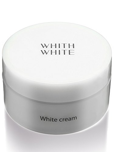 WHITH WHITE Whitening Facial Mask Pack Cream, Made in Japan , Reduces Wrinkles Darkness Blackhead Acne, Contains Hyaluronic Acid, 1.8oz(50g)