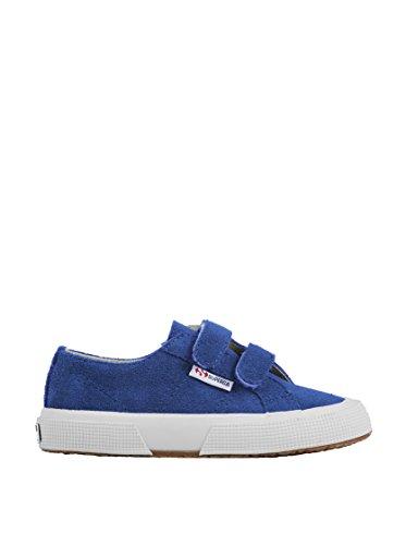 Superga 2750-SUEVJ S0038L0 - Zapatos bajos de cuero para Intense Blue