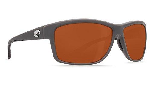 Costa Del Mar Mag Bay Sunglasses, Matte Gray, Copper 580P ()