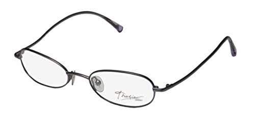 Thalia Dama Womens/Ladies Vision Care Clearance Designer Full-rim Eyeglasses/Eye Glasses (49-18-140, Bluish - Rim Full Eyeglasses Metal