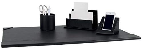 Pavo Oficina Set (Incluyendo papel secante, sostenedor de papel, soporte Telefono y Papeleria soporte) PU imitacion de cuero N