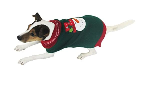 Amazon.com : Armitage Christmas Snowman Jumper (Extra Small) : Pet Supplies