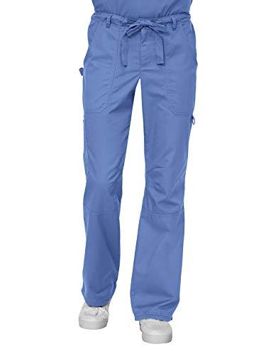 KOI James Elastic Men's Scrub Pants with Zip Fly and Drawstring Waist, True Ceil, X-Large/Short