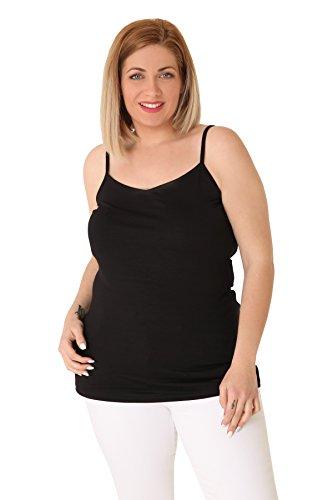 Parabita - Camiseta Basic de viscosa con tirantes Negro