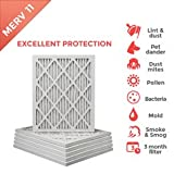 16x25x1 MERV 11 ( MPR 1000 ) Pleated AC Furnace Air Filter - 12 Pack