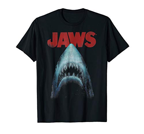 Jaws Classic Movie Poster Close-Up Graphic T-Shirt