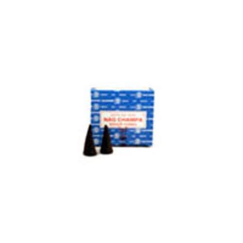 (Sai Baba - Incense Cone, Nag Champa 12 Cones per box - 1 box)