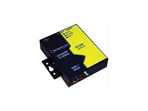 BRAINBOXES ES-246 Brainboxes ES-246 1 Port RS232 Ethernet to Serial Adapter, 1 Port RS-232 Ethernet to Serial Device Server, 1 MegaBaud Data Rate
