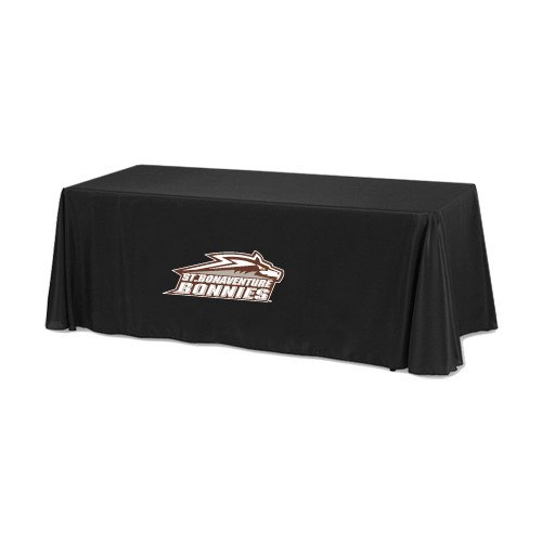 St Bonaventure Black 6 foot Table Throw 'Official Logo' by CollegeFanGear