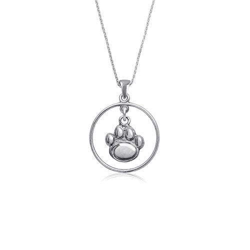 (Penn State Jewelry Nittany Lions PSU Sterling Silver Jewelry by Dayna Designs (Open Drop Necklace))