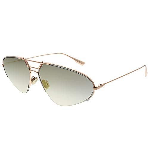 Christian Dior Stellaire5 DDBWM Sunglasses Rose Gold White Frame Grey Flash ()