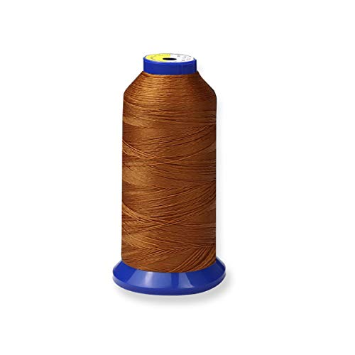 Buy Bonded Nylon Thread for Upholstery, Leather, Jeans and Weaving Hair; Heavy-Duty; #69 T70 Size 21...