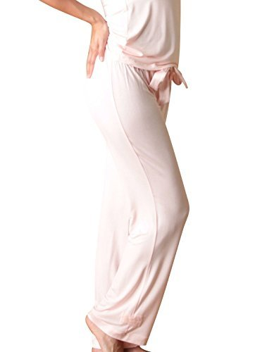 Faceplant Dreams Dreamwear Bamboo Pant (Small, Blush Pink)