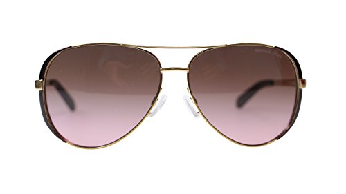 Michael Kors Chealsea Womens Sunglasses M5004 101414 Gold Brown Aviator - Kors Michael Celine